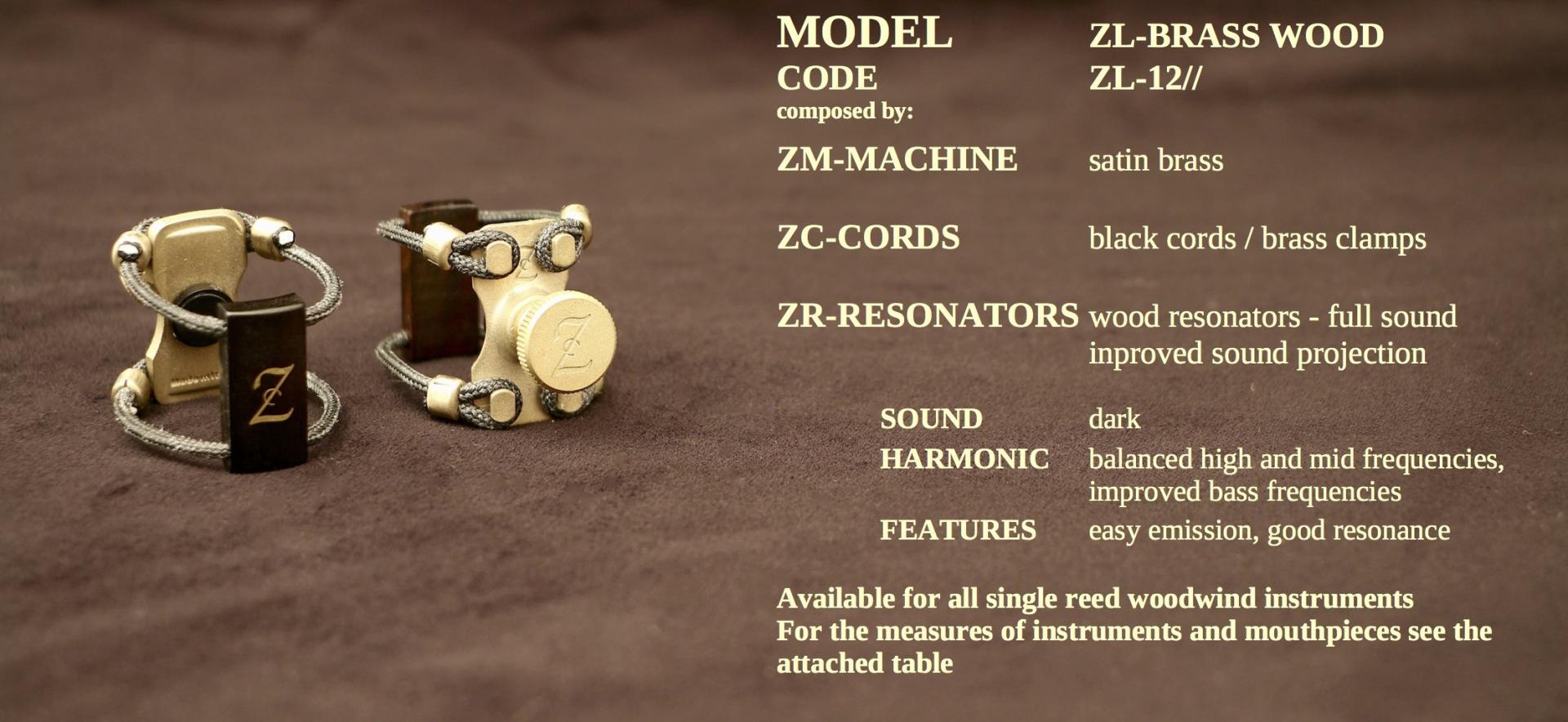 ZAC LIGATURE MODEL: ZL-BRASS WOOD