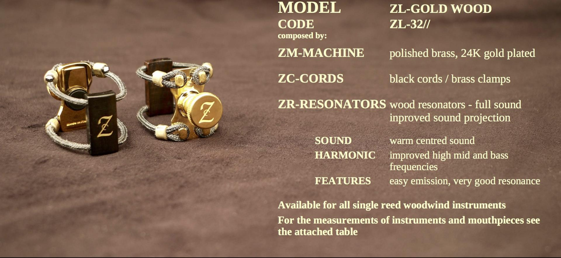ZAC LIGATURE MODEL: ZL-GOLD WOOD