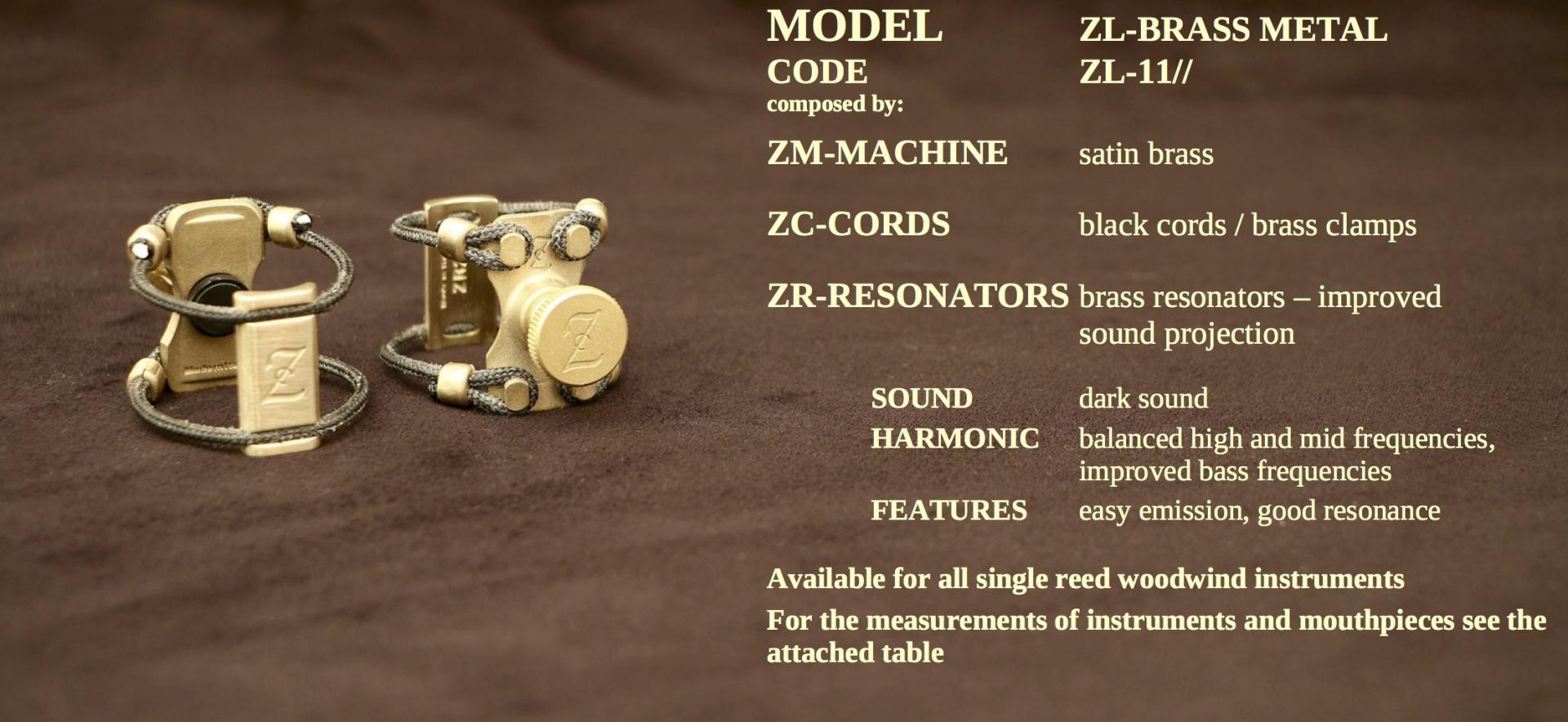 ZAC LIGATURE MODEL: ZL-BRASS METAL
