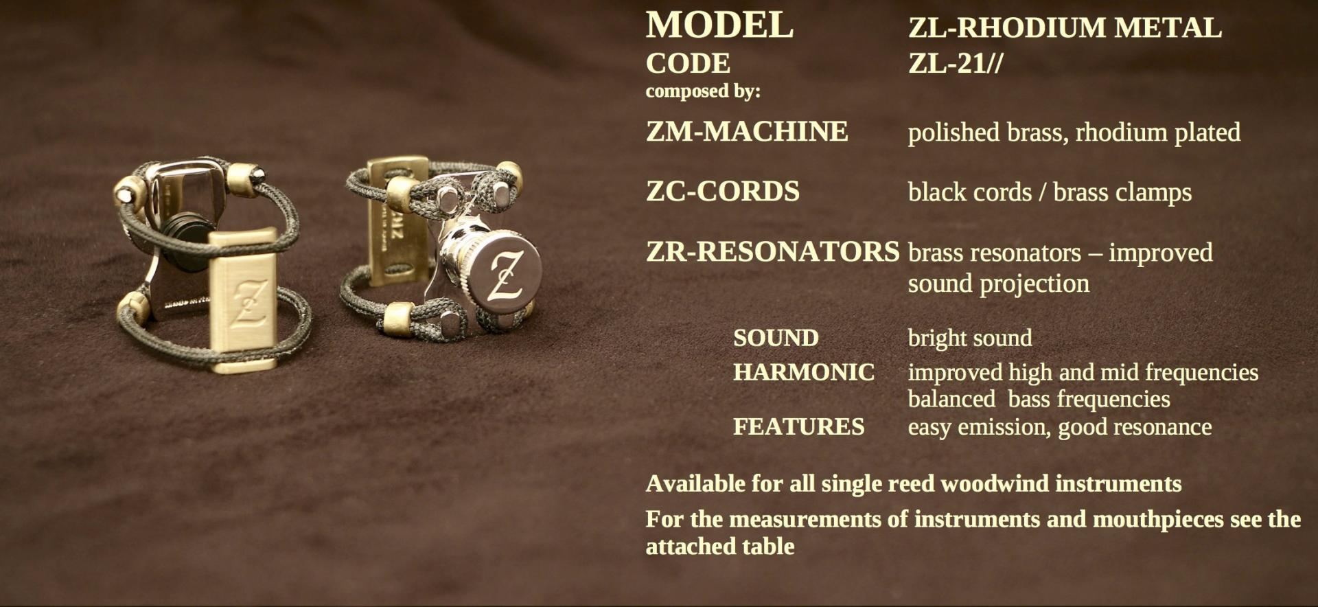 ZAC LIGATURE MODEL: ZL-RHODIUM METAL