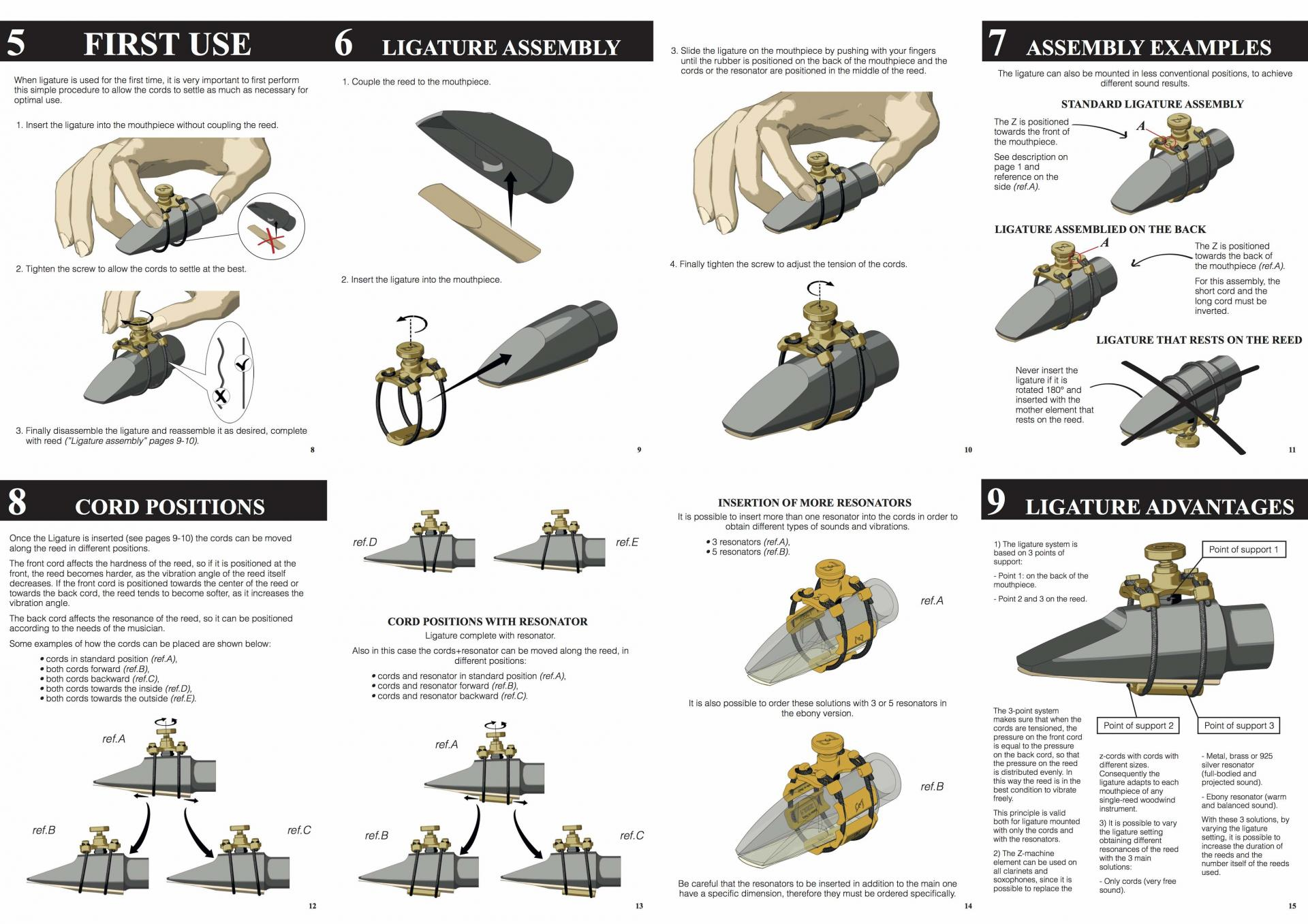 Use and assembly manual Zac Ligature 2